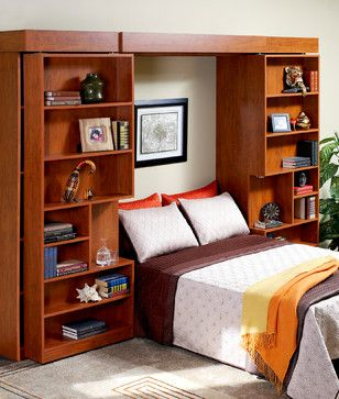 More Space Place Plano's Design Ideas, Pictures, Remodel, and Decor--murphy bed folds up into a bookcase
