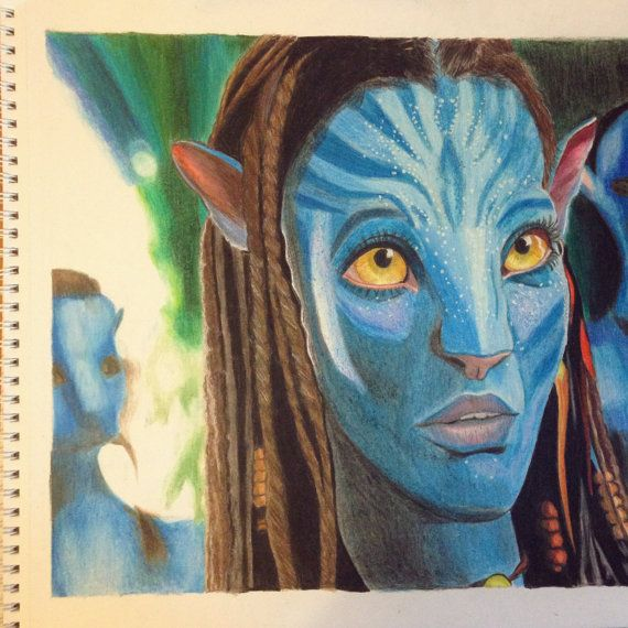 Avatar Movie Drawings: ORIGINAL Avatar Colored Pencil Drawing