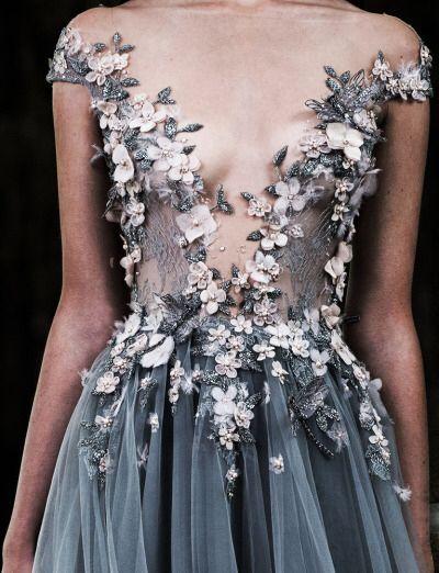 Beautiful blue wedding  gown