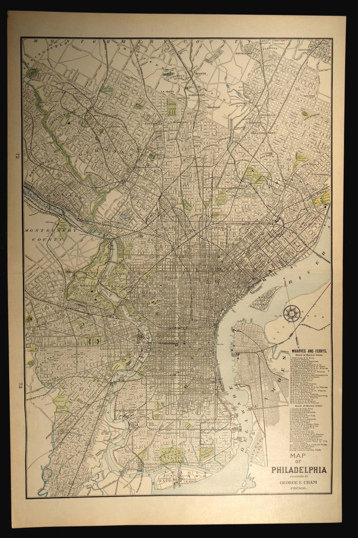 Philadelphia Map Philadelphia LARGE Center City Manayunk