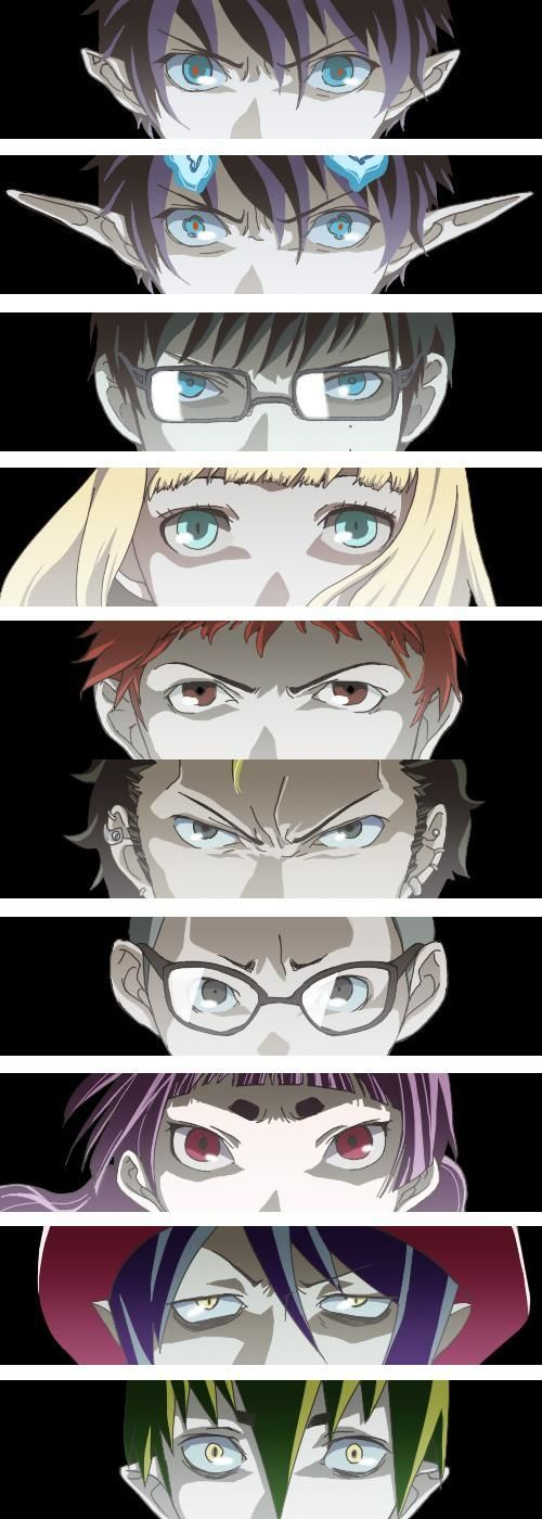 Blue exorcist character's eyes