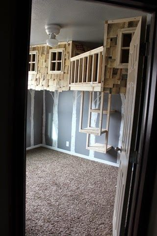 sweet treehouse beds! alternative to bunkbeds.