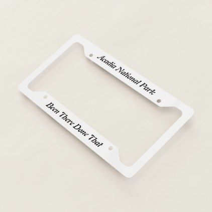 Acadia National Park - license plate frames - fun gifts funny diy customize personal
