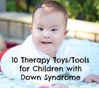 Here are 10 great therapy tools for a child with Down syndrome! @Pediatric Therapy Center-for all of our pins, please visit our page at pinterest.com/PedTherCenter