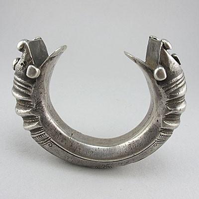 old tribal art silver ethnic jewellery bangle pashtun
