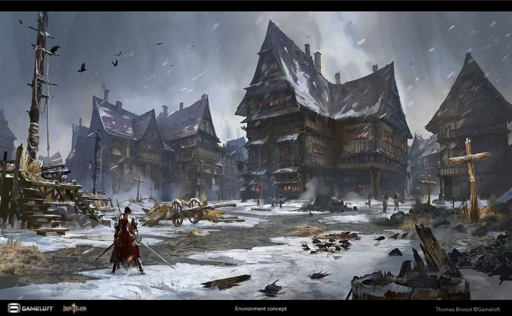 ArtStation - Iron Blade - Environment Concept - Paris, Thomas Brissot