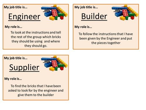 lego therapy job title badges