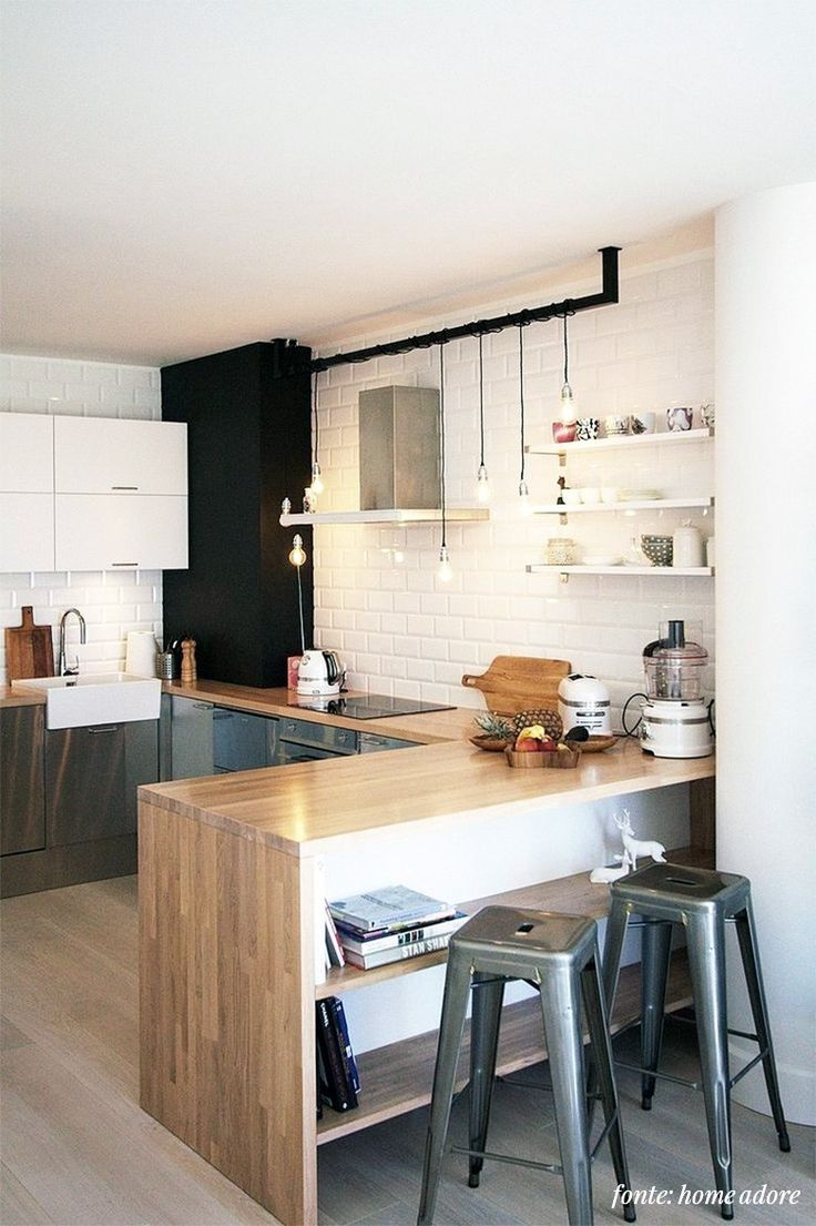 Estamos planejando a nossa cozinha dos sonhos e montamos um post cheio de inspiração, com uma seleção de cozinhas escandinavas!