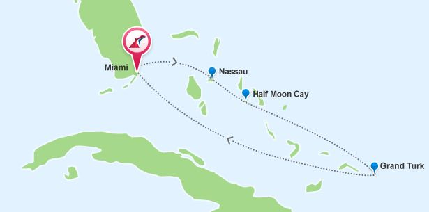 Cruises From Miami FL To Eastern Caribbean Cruise Ports - 5 day cruises