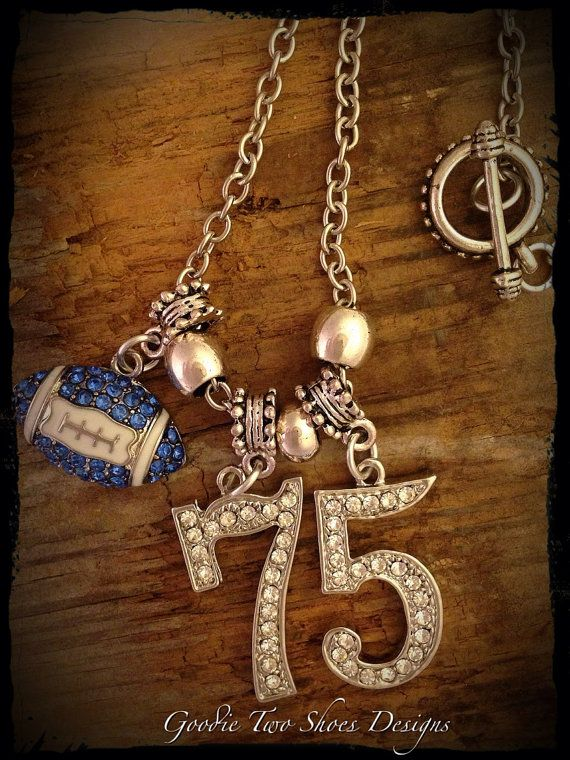 Football Mom, Football Necklace, Football Jewelry, Jersey Numbers on Etsy, $38.00