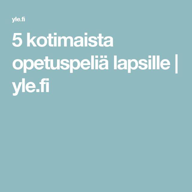 5 kotimaista opetuspeliä lapsille | yle.fi