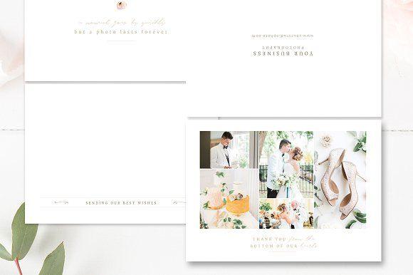 Photographer Thank You Card PSD by By Stephanie Design on @creativemarket