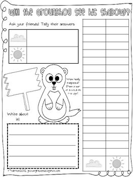 The Groundhog Book (graphing & graphic organizer)
