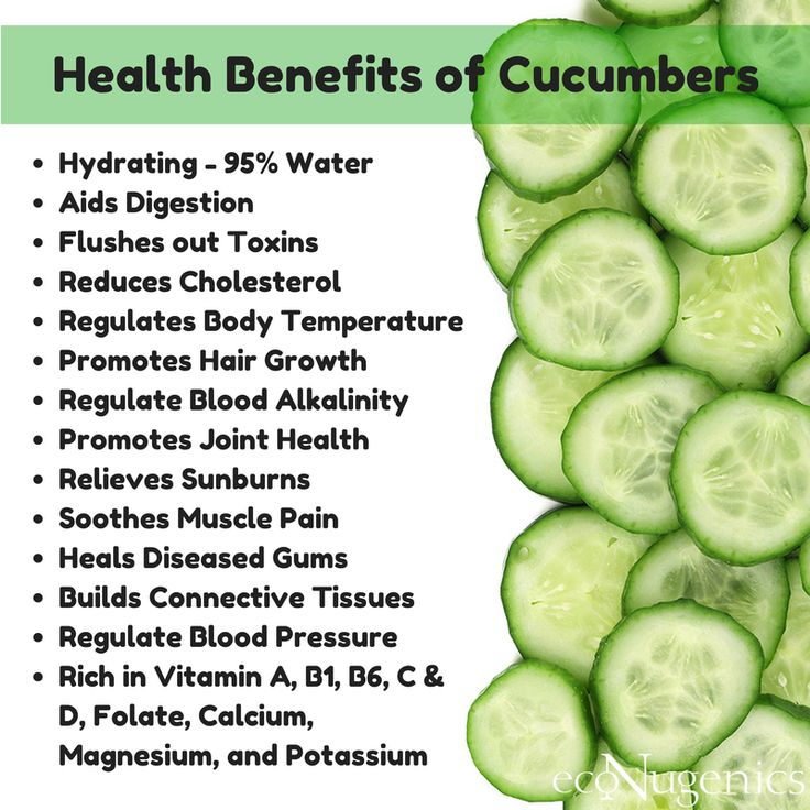Infographic: Health Benefits of Cucumbers