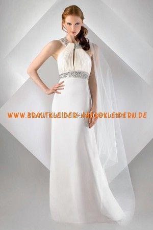 Sexy Brautkleider aus Satin rückenfrei A-Linie mit Kristall online ...