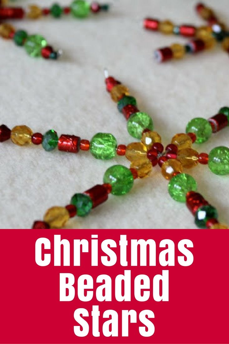 Make these Christmas Beaded Stars to decorate your house, tree or table this year using simple crystal beads and special wire forms. Or you could make them as snowflakes for your Winter decorating