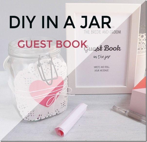 wedding DIY - guest book in a jar ; matrimonio fai da te, guest book in vaso - tutorial