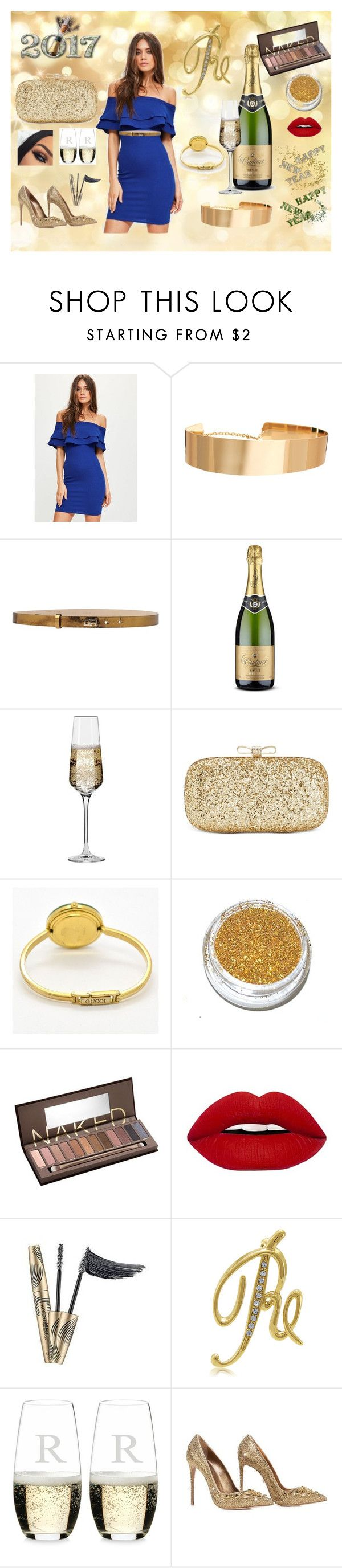 """""""Welcoming 2017...."""" by ritty18 on Polyvore featuring Missguided, ASOS, Daniele Alessandrini, Krosno, INC International Concepts, Gucci, Urban Decay, BERRICLE, Riedel and Le Silla"""