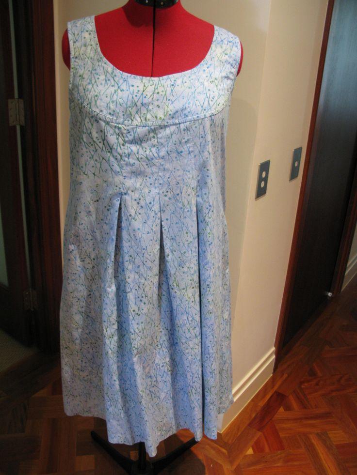 Cotton summer dress - Burda pattern