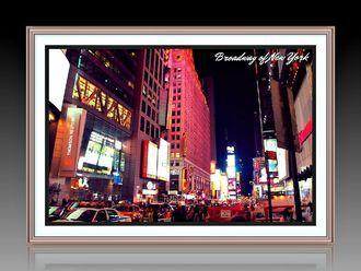 """Багетная фотокартина """"Бродвей в Нью-Йорке"""""""
