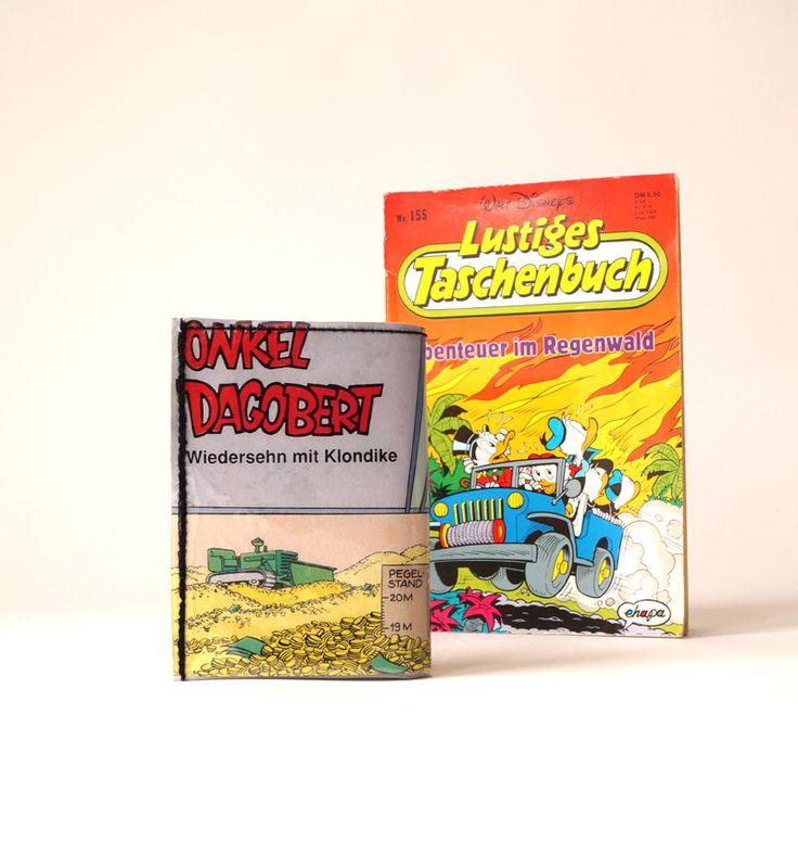 DONALD DUCK Portemonnaie Comic upcycling Unikat! PauwPauw Geldbörse, Brieftasche, Geldbeutel Taschenbuch Comic wallet handmade in Berlin von PauwPauw auf Etsy