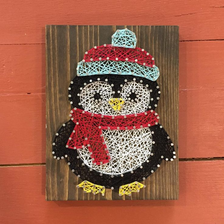 Cute little baby penguin string art!   See this Instagram photo by @southern.string • 56 likes
