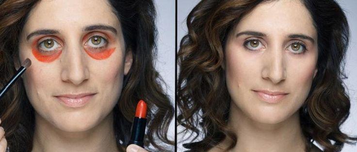 Vidéo : elle utilise du rouge à lèvres pour cacher ses cernes et ça marche !