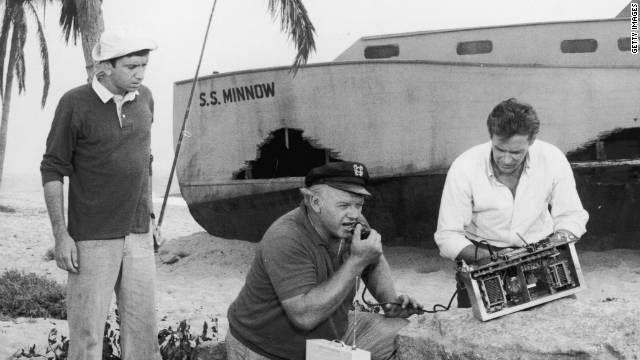 Изображение профессор, Гиллиган, капитан и кокосового питание радио на острове Гиллиган
