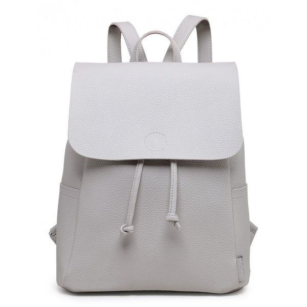 PURE SHORES GREY RAW BACKPACK ($39) ❤ liked on Polyvore featuring bags, backpacks, daypack bag, rucksack bags, backpack bags, grey bag and day pack backpack