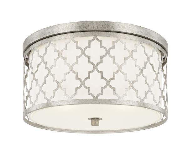 FREE SHIPPING. Purchase the Moroccan inspired trellis pattern drum Ellis Ceiling Mouint in Antique Silver today for your transitional ceiling lighting today at lightingconnection.com. Capital Lighting 4549AS