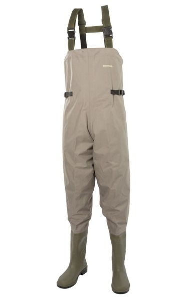 Rip-Stop Nylon Waders  For 12 years our top selling wader has been the popular 210 denier Nylon model. We saw no reason to change this… until our material manufacturer developed this new material a 150D Rip-stop Ballistic Nylon material which is light, flexible and super-tough. The checked Rip-Stop over-weave prevents tears, while the soft, flexible PVC lining ensures they stay 100% waterproof and provide all-day comfort.