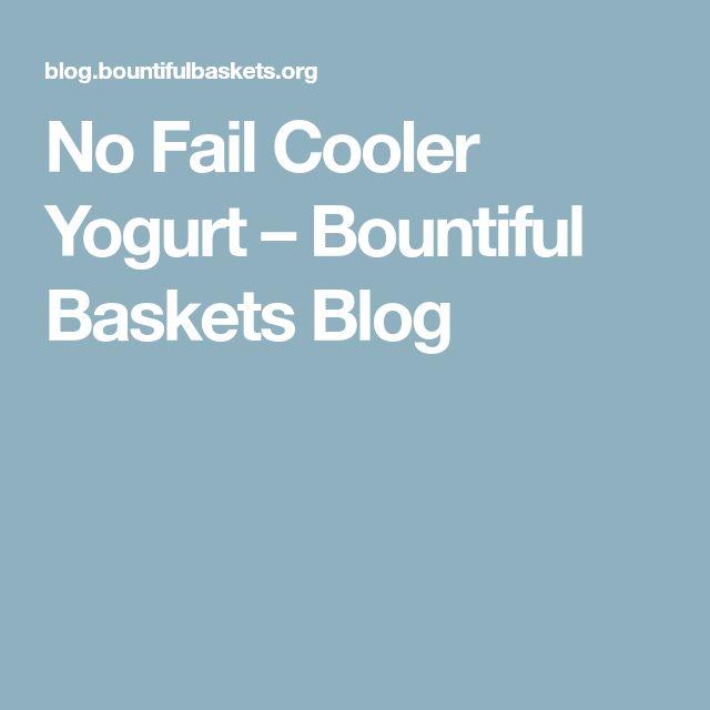 No Fail Cooler Yogurt – Bountiful Baskets Blog