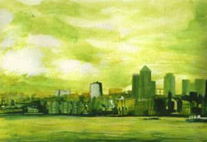 'Canary Wharf Green 2' by Paul Mitchell