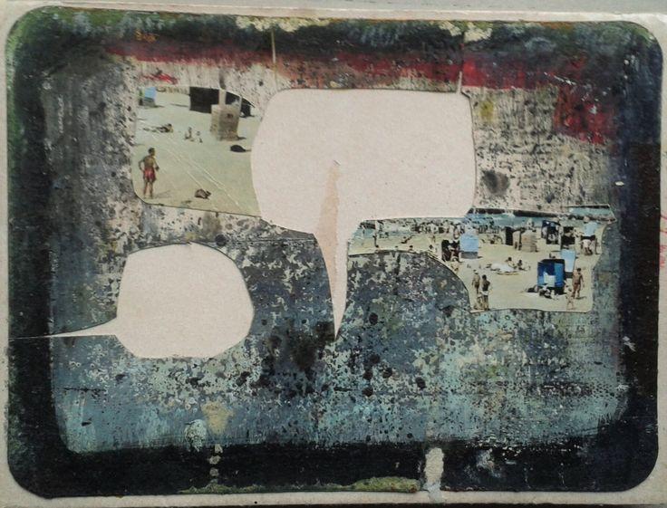 Seria: Recycling, the beach, mixed media, 2016, M.Daniec
