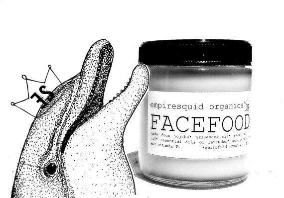 Organic Face Cream  Face Food with Beeswax  Natural by EmpireSquid