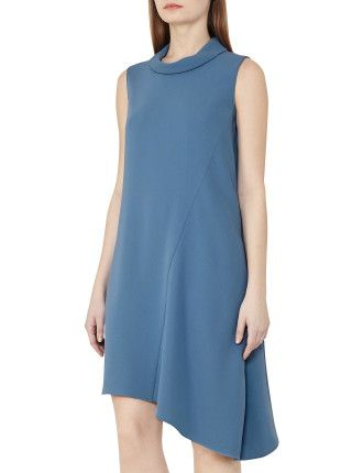 Sansa High-Neck Shift Dress | David Jones