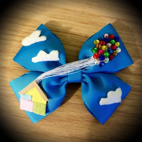 Up Inspired Disney Pixar Balloon House Hair Bow