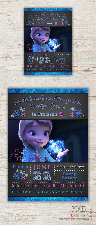 Frozen Birthday Invitation Frozen Birthday by PixelPerfectShoppe