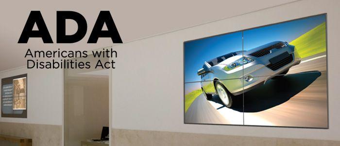 BLOG: Taking Measures for ADA Compliancy #AV #ADA #ADACompliant #Videowalls #Installation #Safety #Blog