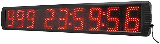 Digital clock with seconds amazon