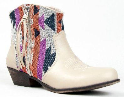 Qupid TRIO-23 Printed Western Cowboy Inspired Stacked Heel Ankle Boot Bootie Qupid. $45.00
