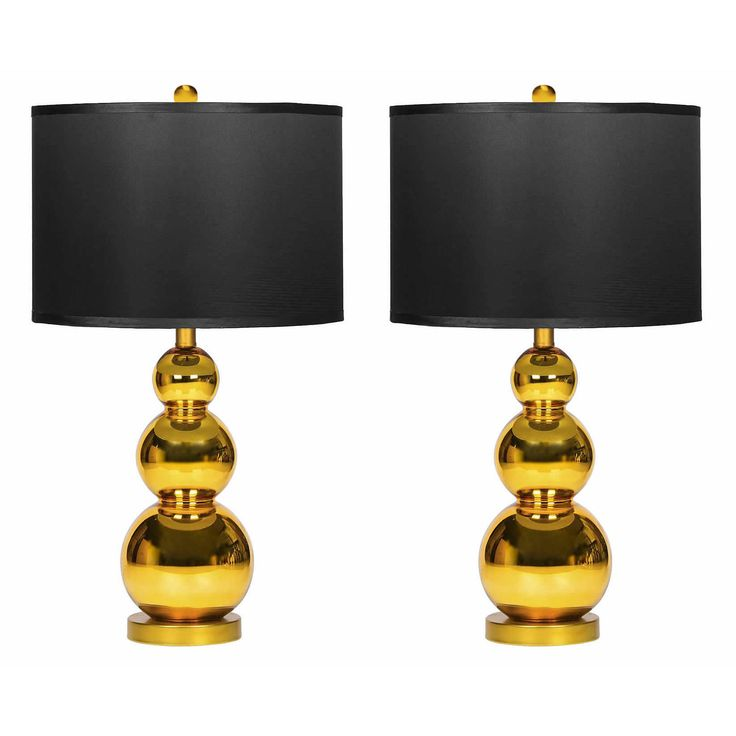 gold mercury glass table lamp set of 2 by abbyson lamp sets. Black Bedroom Furniture Sets. Home Design Ideas