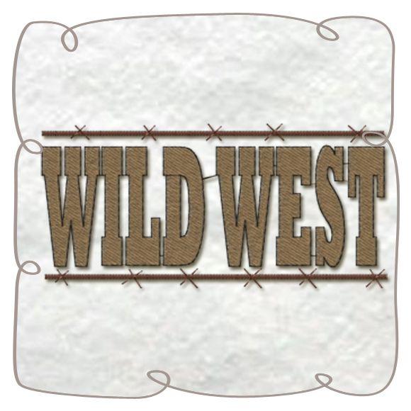 Wild West machine Embroidery Design pattern-INSTANT DOWNLOAD
