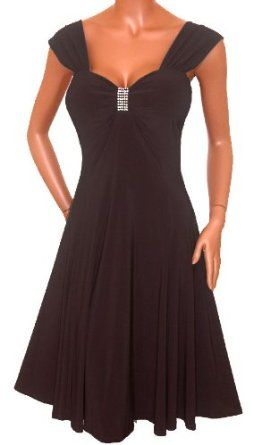 Plus Size Black Empire Waist Cocktail Dress