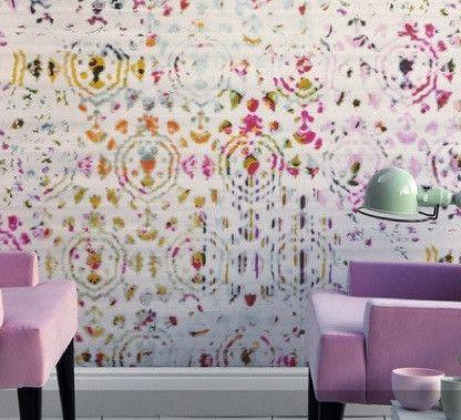 Elitis Wallpaper: Brit Pop in Pink by Elitis | JUST KIDS WALLPAPER™