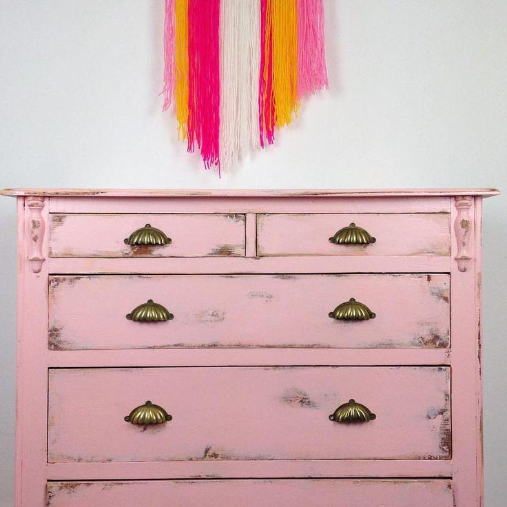 Pink chest of drawers #upcycledfurniture #handpaintedfurniture #kylelaneclonmel #furnituremakeover