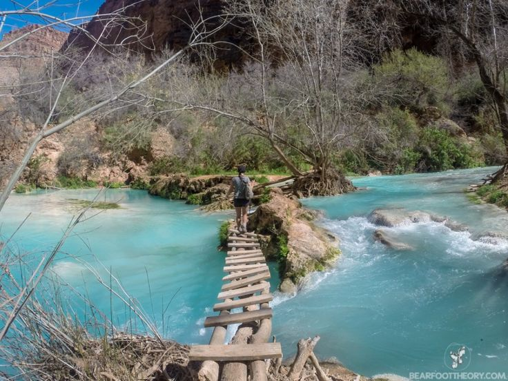 The trail to Beaver Falls on the Havasupai Indian Reservation. bearfoottheory.com