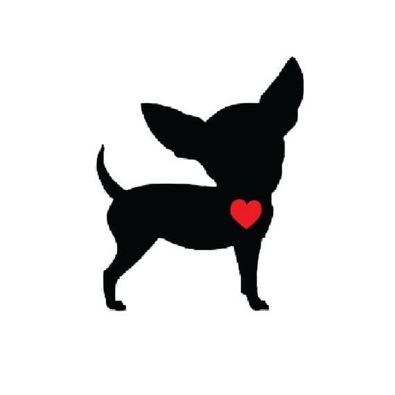 Chihuahua Heart Beat Vinyl Decal Sticker Car Truck Funny Tea Cup Breed Short