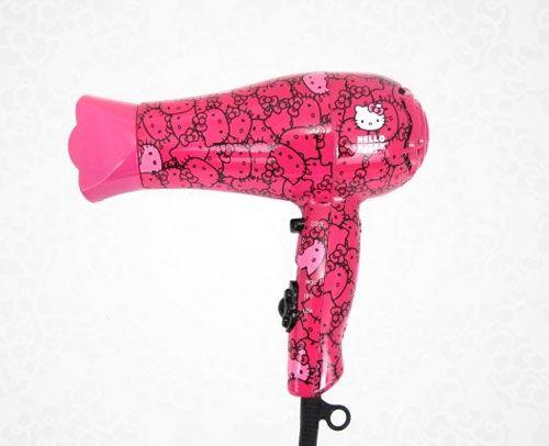 Hello Kitty hair dryer for she! #HelloKitty