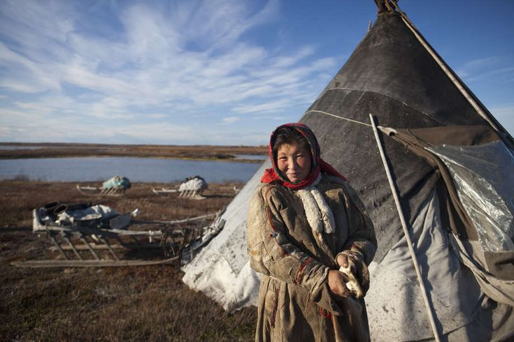 During the reindeer migration camps of portable shelters called choom are erected. During the day, chooms are not heated, but at nightfall, Nenets use a wood-fired stove to cook their only hot meal of the day and to warm the air inside. Wood needed for warmth is often carried for most of the journey because forests become scarce along the way.